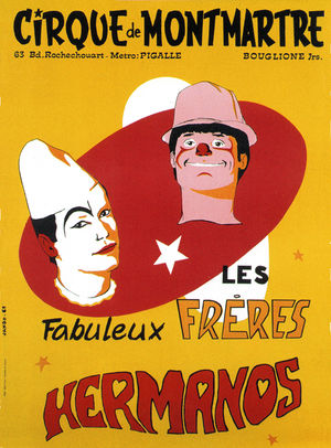 Poster for The Hermanos at the Cirque de Montmartre (1968)